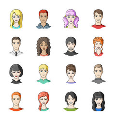 set of different avatars girls and men avatar and vector image