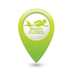 shark sighting icon green map pointer vector image