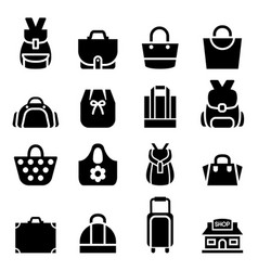 silhouette shopping bag icon vector image