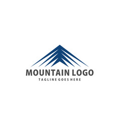 simple mountain logo design inspiration vector image