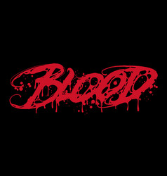 single word blood vector image