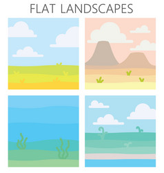 Soft nature landscapes desert with mountains vector