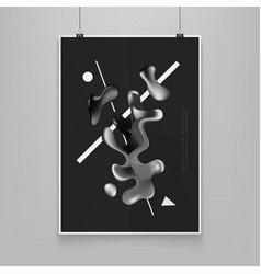 stock fluid shapes poster vector image