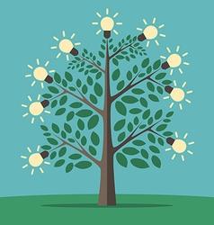 Tree of creative ideas vector