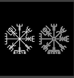 Vegvisir runic compass galdrastav navigation vector