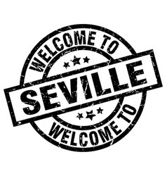 Welcome to seville black stamp vector