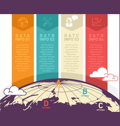 World map infographic design vector