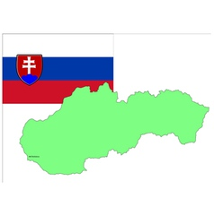 6215 slovakia map and flag vector image vector image