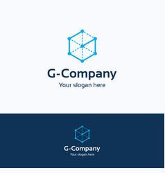 g company logo vector image vector image