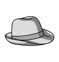 Panama hat icon in monochrome style isolated on vector