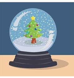 Xmas Tree Snow Ball vector image vector image
