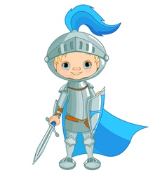 Brave Knight vector image