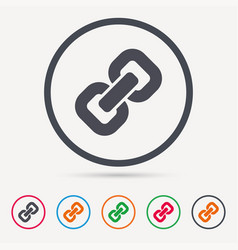 chain icon internet web hyperlink sign vector image vector image