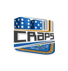 logo for craps gamble vector image vector image