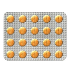 Pills in a blister pack vector image vector image