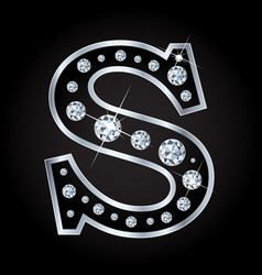 s letter made with diamonds isolated on vector image