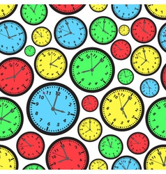 time zones color clock seamless pattern eps10 vector image vector image