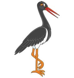 Black Stork vector image vector image