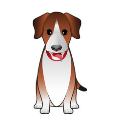 dog terrier sitting vector image
