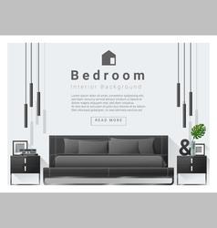 Modern bedroom background Interior design 6 vector image vector image