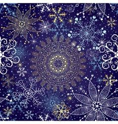 Christmas dark blue seamless pattern vector image