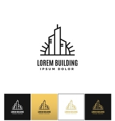 Commercial real estate logo icon vector image