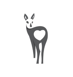 Deer in the negative concept sign animal vector image