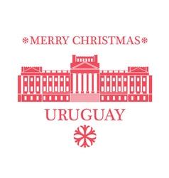 Merry christmas uruguay vector