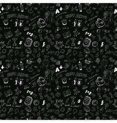 School seamless pattern vector image