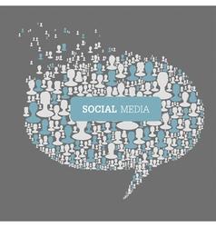 social speech bubbles vector image vector image