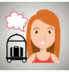 woman client hotel icon vector image