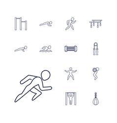 13 athlete icons vector