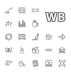 22 modern icons vector