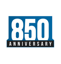 850th anniversary icon birthday logo vector image