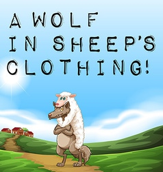 A wolf in sheeps clothing vector image