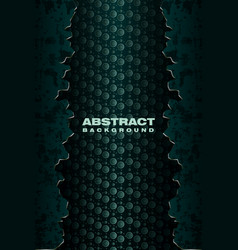 Abstract crack metal green banner vector