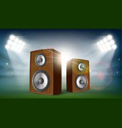 audio speakers in a stadium vector image