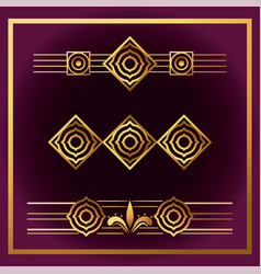 background art deco frames style vector image
