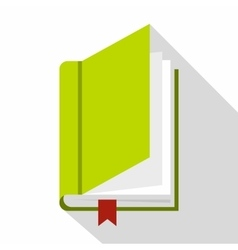 Book with bookmark icon flat style vector image