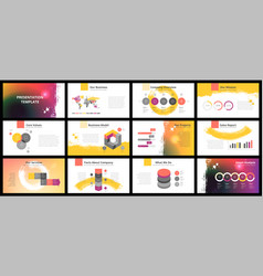 Business presentation templates vector