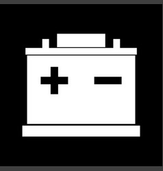 car battery white color icon vector image