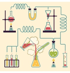 Chemistry Laboratory Infographic vector image