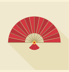 Chinese folding handheld fan vector