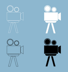 Cinematograph the black and white color icon vector