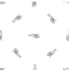 city helicopter pattern seamless vector image