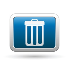 clean icon on blue with silver rectangle vector image