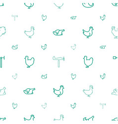 Cock icons pattern seamless white background vector
