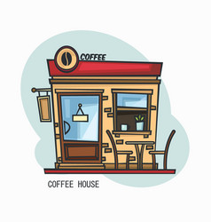 Coffee house or shop store for drinks vector