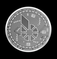 crypto currency bitshares silver symbol vector image