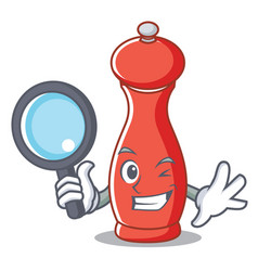Detective pepper mill character cartoon vector